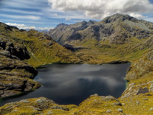 Harris Lake from Haris Saddle, Routeburn Track, NZ