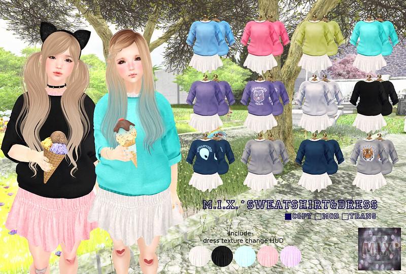 M.I.X.*sweatshirt&dress POP