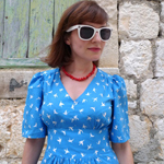 Blue Swallows Dress