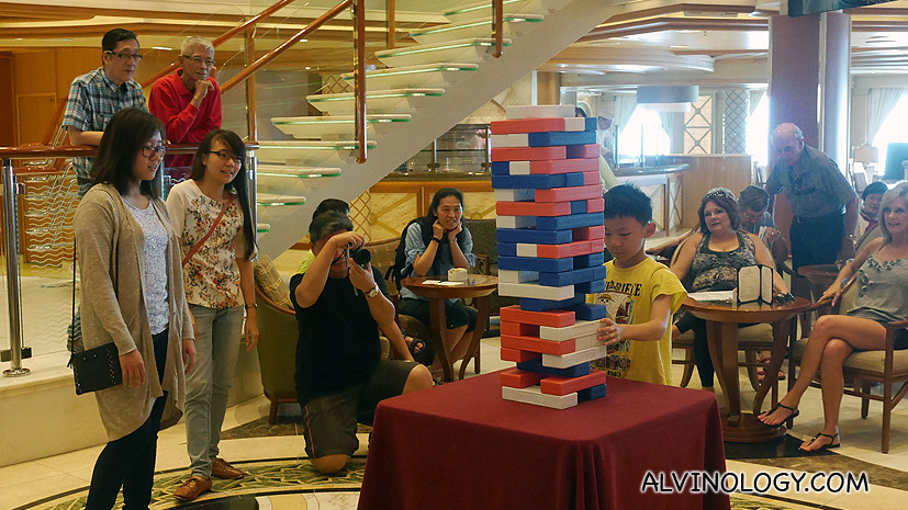 Giant jenga for kids to play