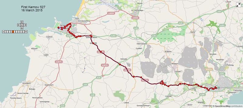 First Kernow Route-527 Map-16March2015
