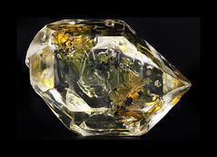 Herkimer Diamond filled with Petroleum