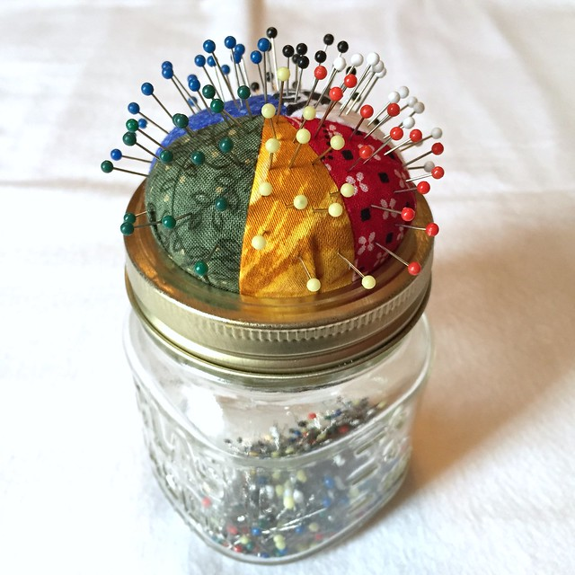 Scrappy Pin Cushion Jar - After