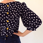 Polka Dot Mathilde Blouse