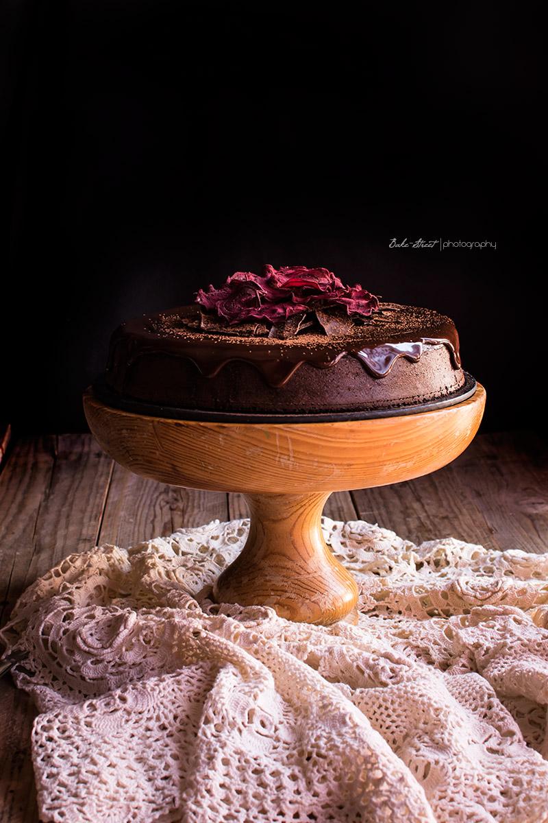 Tarta de chocolate y remolacha sin gluten