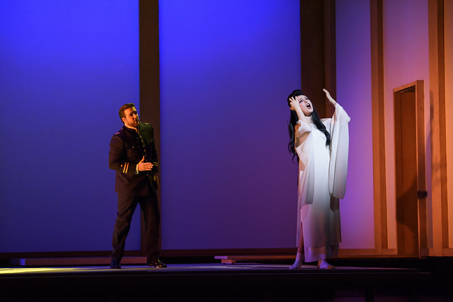 Brian Jagde as Lieutenant Pinkerton and Kristin Opolais as Cio-Cio-San in Madama Butterfly © ROH 2015. Photo by Bill Cooper