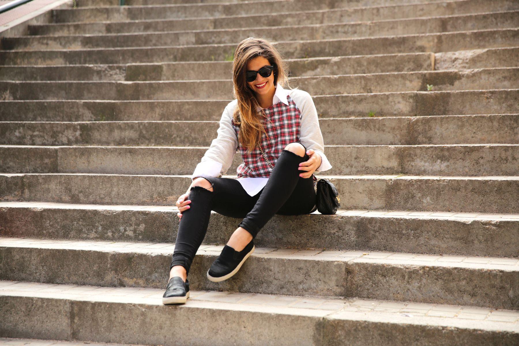 trendy_taste-look-outfit-street_style-ootd-blog-blogger-fashion-spain-moda-españa-steve-madden-plaid-shirt-camisa-cuadros-skinny-jeans-pitillos-negros