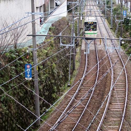 張り巡らされた高架線の上から #都電pw2015