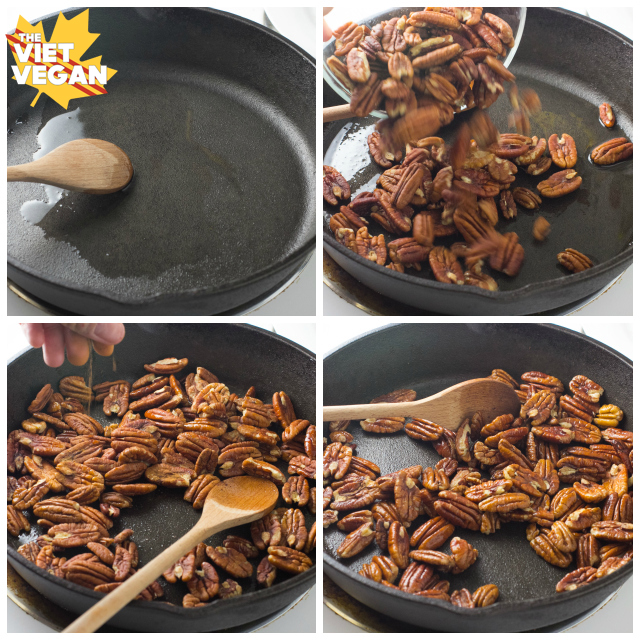 Toasting Pecans with Cinnamon-w