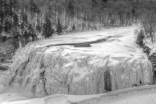 Frozen Middle Falls at Letchworth State Park