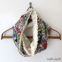 liberty fuzz circle scarf by karin jordan