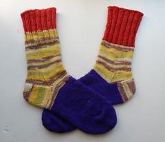 носки от мыска с квадратной пяткой