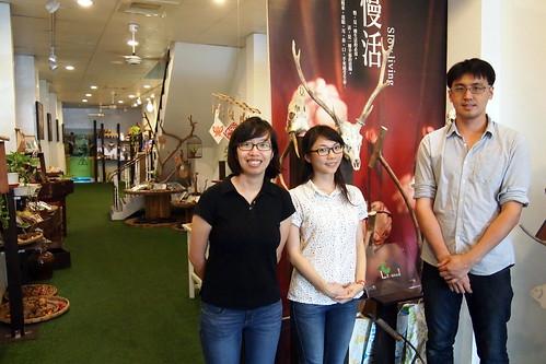 里山生態公司青年創業者,左起為林惠琪、李怡慧、林志遠。