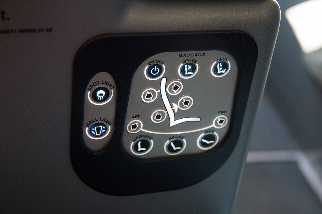 Air Berlin Business class seat controls