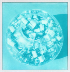 Cyan Film Canisters