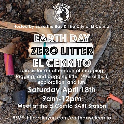April 18 Zero Litter El Cerrito Event Poster