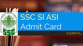 SSC Sub Inspector Admit Card 2016 - SI ASI Recruitment Admit Card