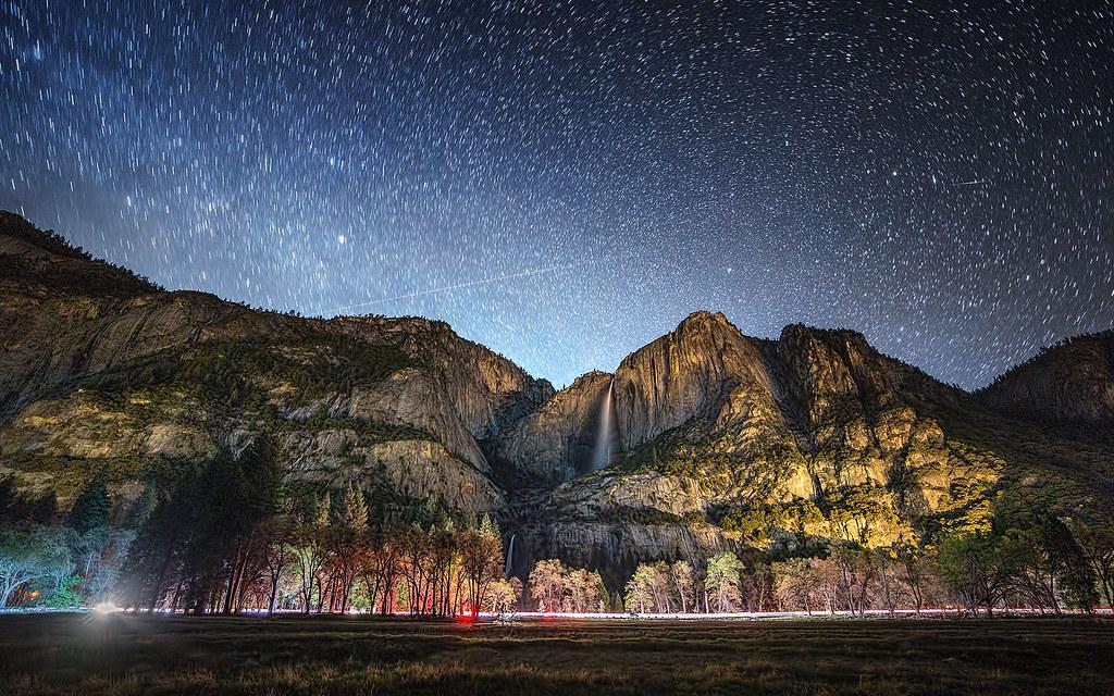 Yosemite Falls on a Starry Night - Explored