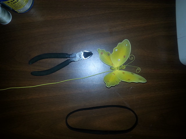 butterfly headband supplies