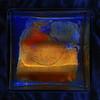 Egg in the Water: 2 weeks later. a hair fell into. Aleatorics with an Egg in a Glass Cube, using a technique of Egg Oracle. Ei im Wasser im Würfel, unter Verwendung einer Technik des Ei Orakel - Haar in der Suppe Jupiter zur blauen Stunde, Sonnenuntergang by hedbavny
