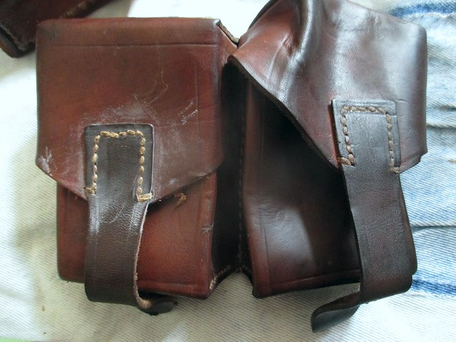 oiled belt pouches