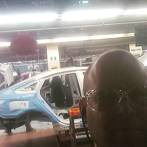 Just a typical day building @hyundaiusa #elantraeco cars!