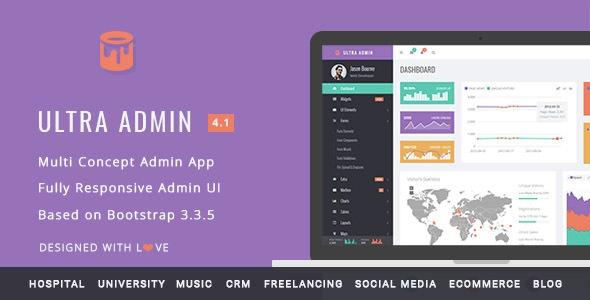 Ultra Admin v4.1 – Multi Concept Admin Web App with Bootstrap