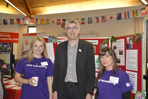 Volunteering team at UWE Green Capital launch