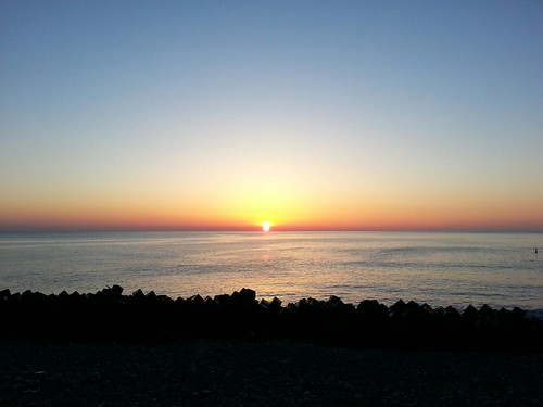 南相馬市鹿島区、夜明け。