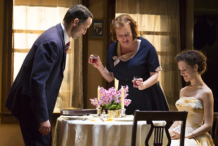 Nael Nacer, Adrianne Krstansky, and Marie Polizzano in the Huntington Theatre Company's production of William Inge's COME BACK, LITTLE SHEBA, directed by David Cromer, playing March 27 – April 26, 2015, South End / Calderwood Pavilion at the BCA. Photo: T. Charles Erickson.