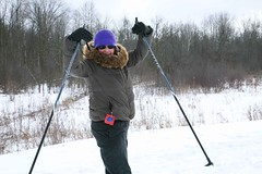 winter, skiing, sports, snow, outdoor recreation, hiking equipment, cross-country skiing,