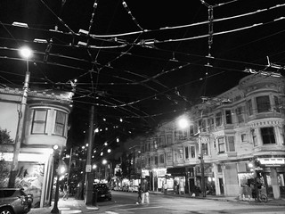 Lights are Bright at Fillmore and Haight