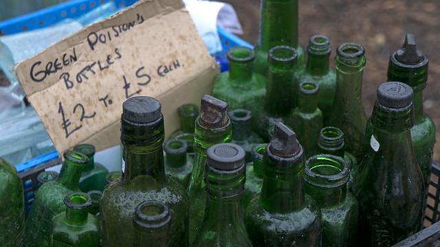 Green Poison Bottles