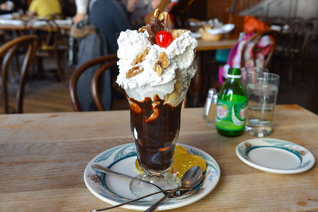 "Luger's Special ""Holy Cow"" Hot Fudge Sundae"