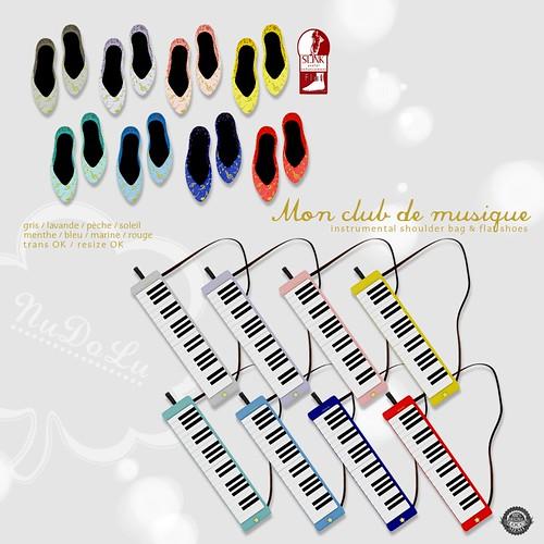NuDoLu Mon club de musique gacha All colors