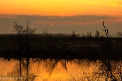tramonto lungo il pò di Goro
