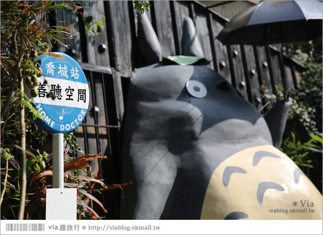 【大里龍貓】台中大里龍貓公車站《喬城站》~可愛的立體龍貓超吸睛!拍照去~13