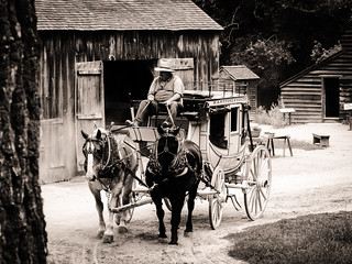 Image of Old Sturbridge Village. old bw horse usa naturaleza nature sepia century puente caballo town village carriage pueblo sturbridge antiguo xix worcester massachussetts siglo eeuu carruaje xviii