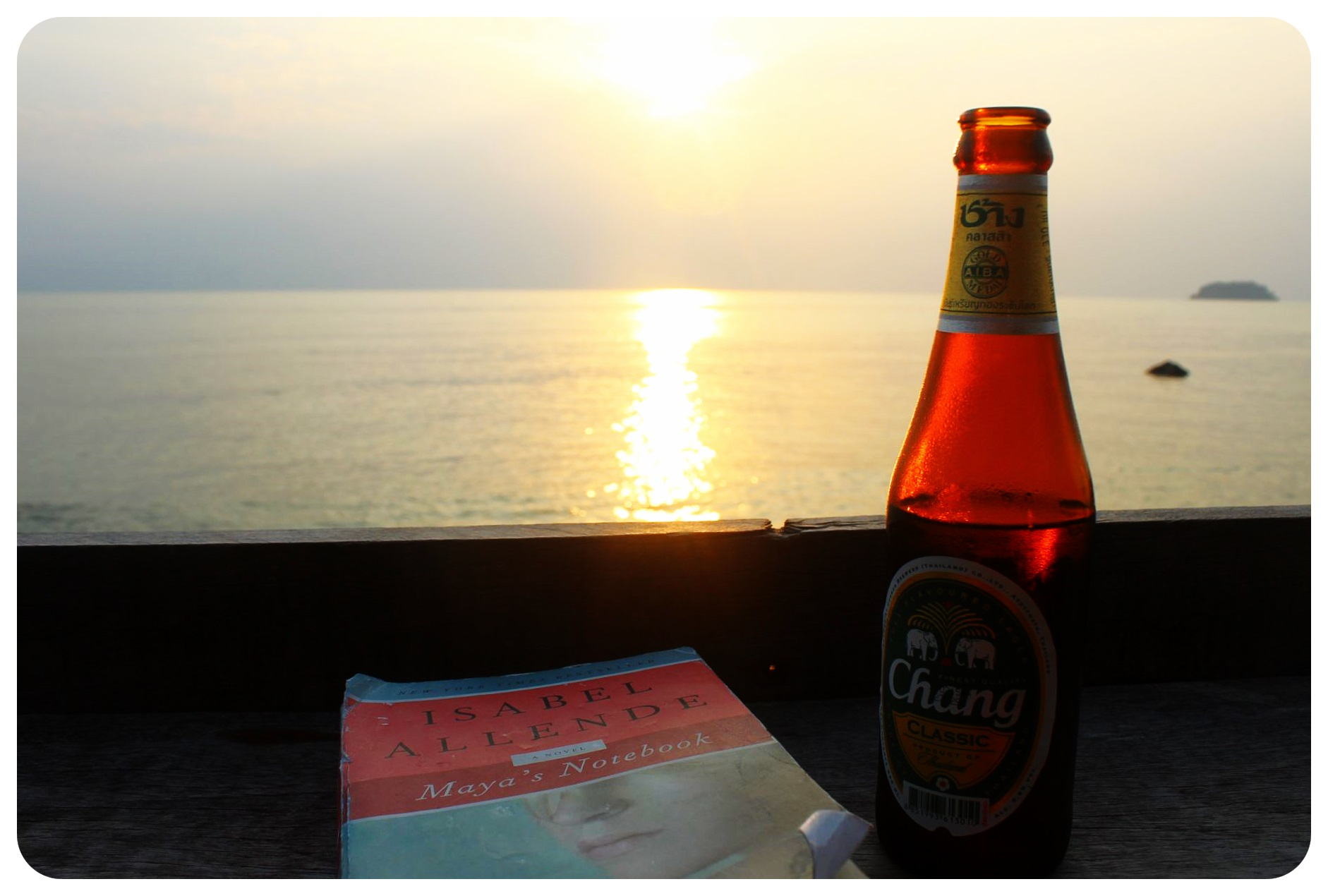 sunset reading koh chang