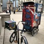 Puppet bike parked by Michigan Ave Bridge