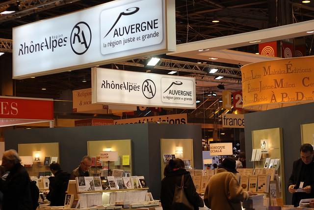Rhône-Alpes, Auvergne - Salon du livre de Paris 2015