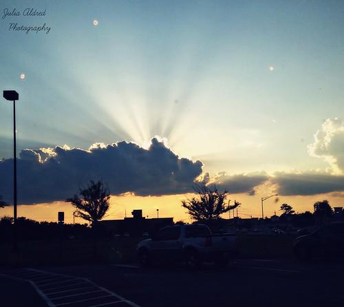 Rays of sun.