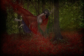 waiting above the red cloak