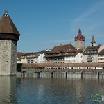 Lucerne (Luzern) Old Town and Covered Bridge - Switzerland