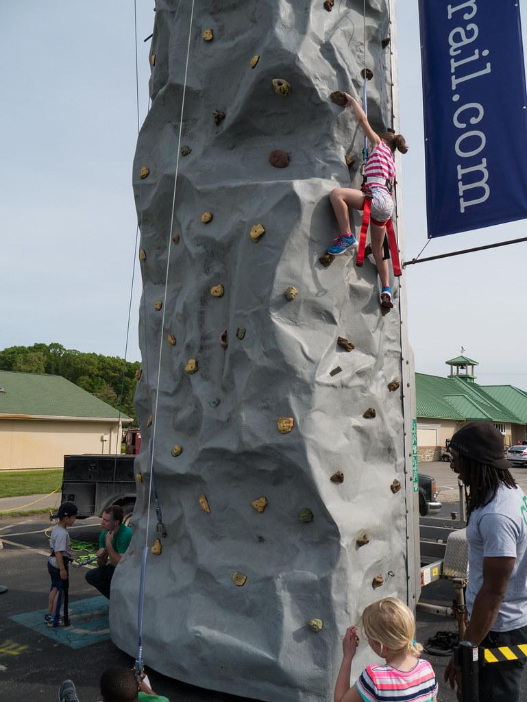 Molly climbing