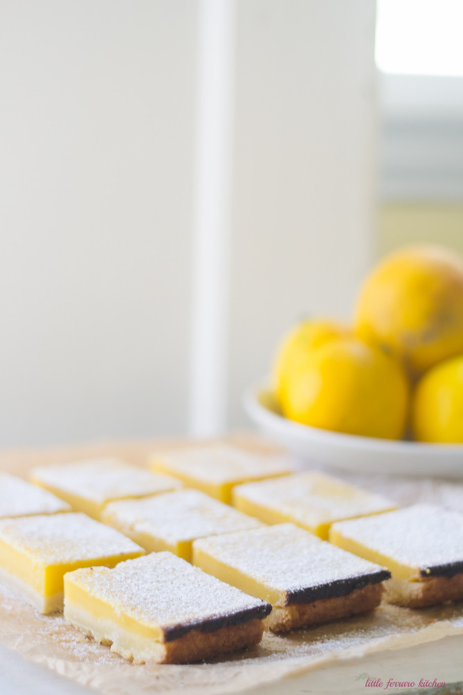 Meyer Lemon Bars via LittleFerraroKitchen.com