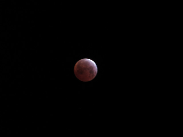 lunar eclipse this morning