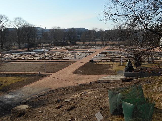 Helsingin Kaisaniemen kasvitieteellisen puutarhan remontti - Tilannetta 19.3.2015 A