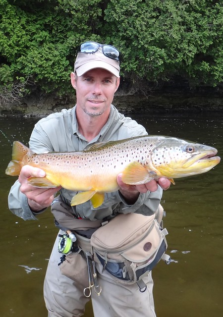 Head Guide Graham with a huge Brown Trout