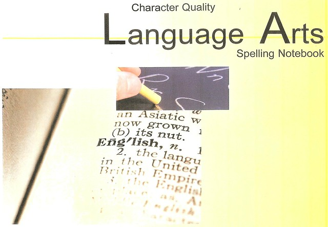 Character Quality Language Arts Spelling Notebook